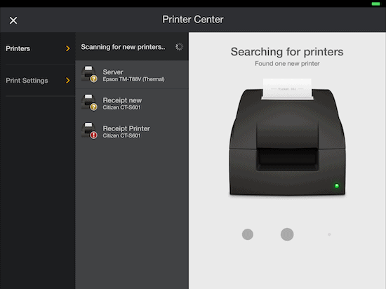 print center breadcrumb